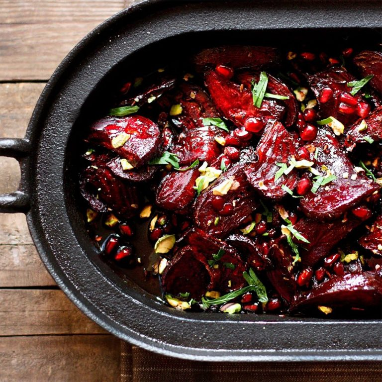 Roasted Honey and Balsamic Glazed Beets & Carrots