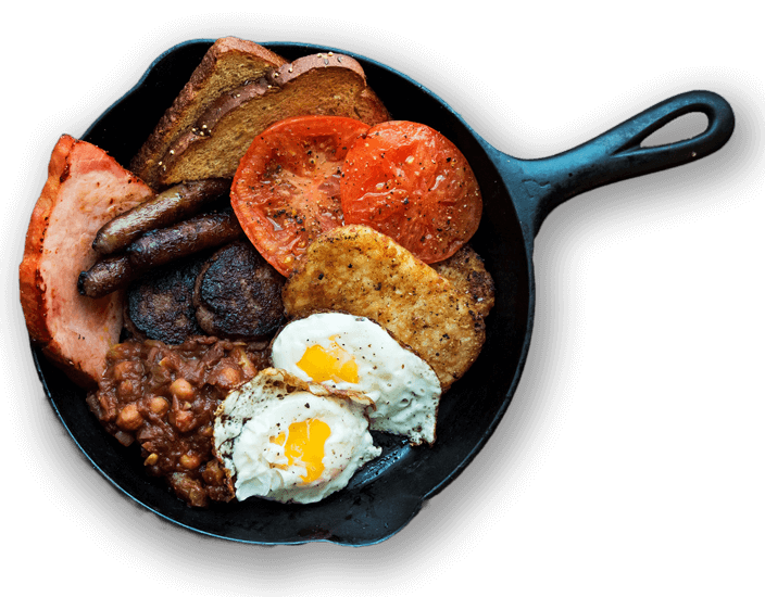 classic-irish-fry-up-with-baked-bean-salad