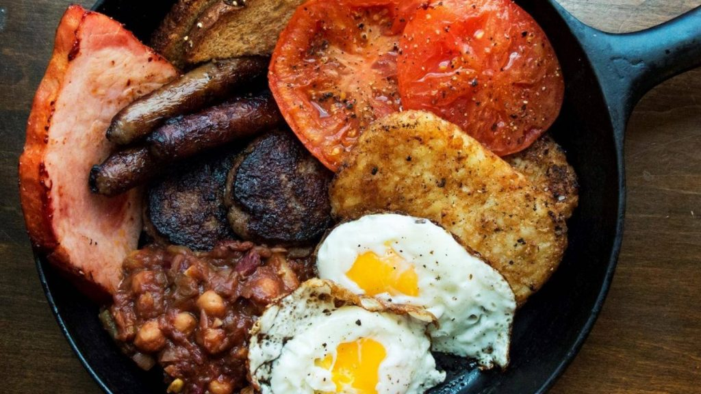 Classic Irish Fry-up With Baked Bean Salad