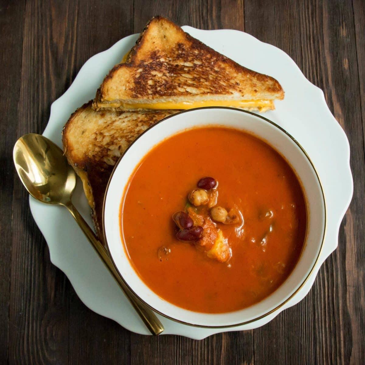 four-bean-tomato-soup