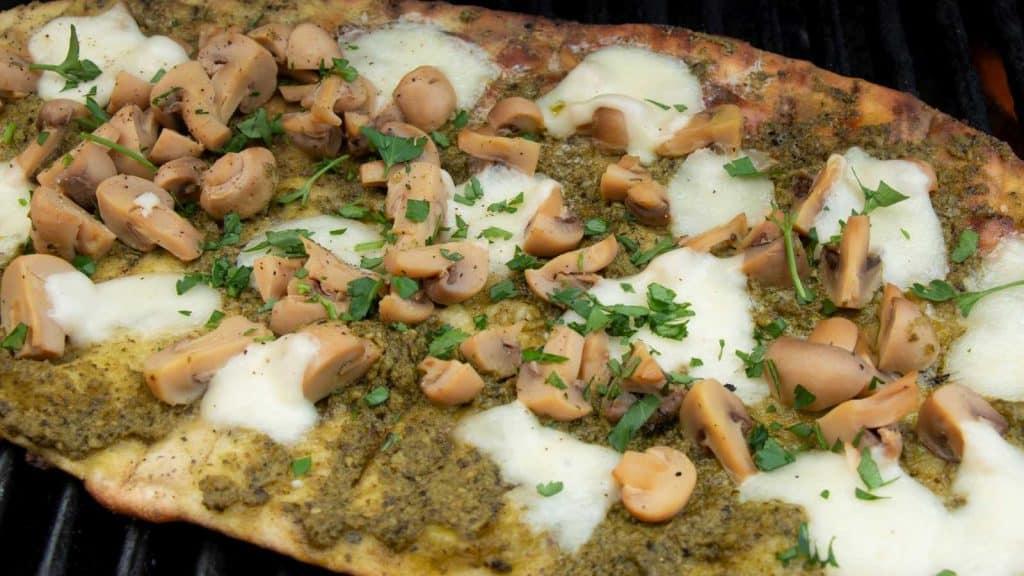 Grilled Mushroom Flatbread