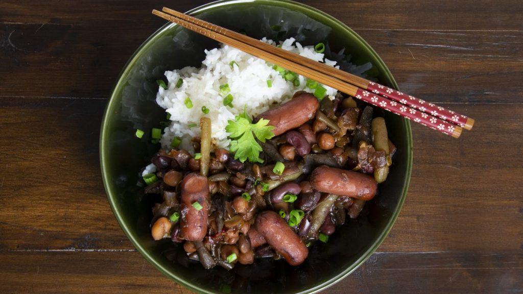 Asian Sausage and Beans
