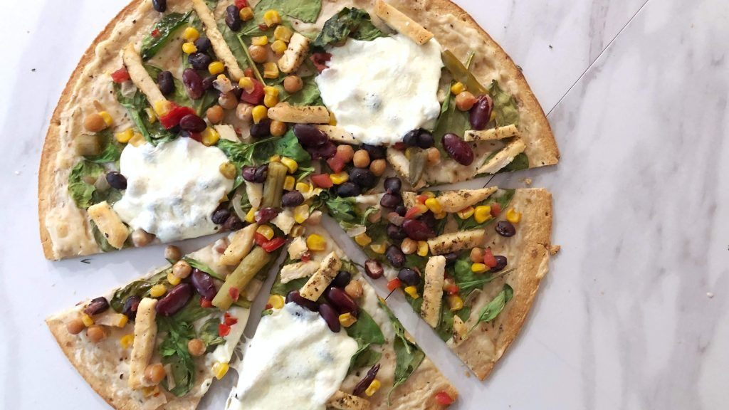 Southwest Bean Salad Pie
