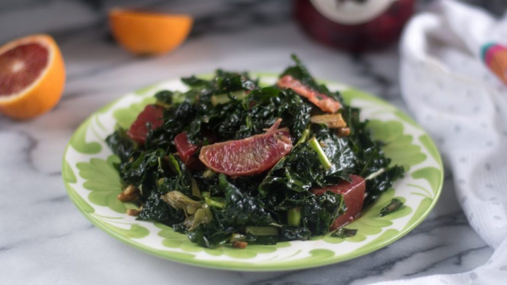Pickled Beet and Orange Kale Salad