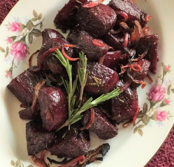 Rosemary Roasted Pickled Beets