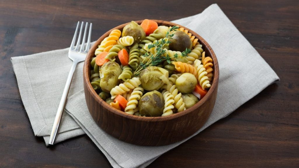 Brussels Sprouts Pasta Salad