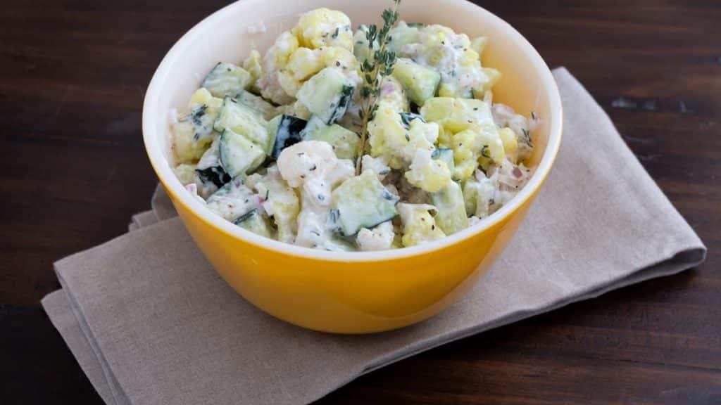 Cauliflower Cucumber Salad
