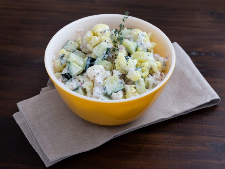 Cauliflower Cucumber Salad