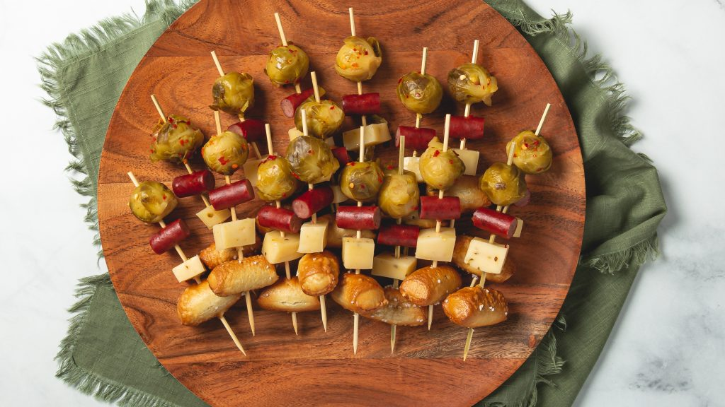 Brussels Sprouts Skewers