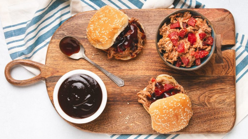 BBQ Pulled Pork with Sweet Beets